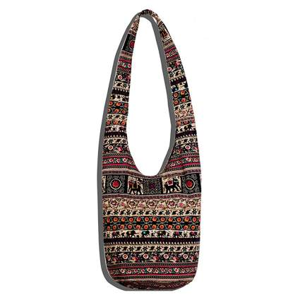 hippie print crossbody bag
