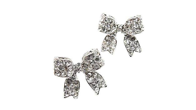 christmas earrings, christmas jewelry, earrings, stud earrings, crystal earrings