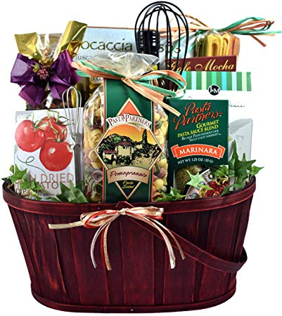 italian themed dinner gift basket