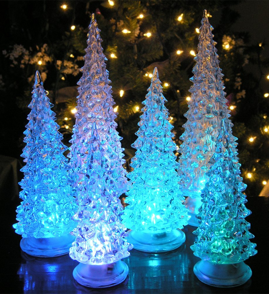 holiday table decor, christmas tree, lighted tree