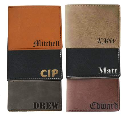 Personalized Engraved Bi-Fold Men's Leather Wallet