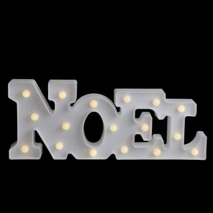 noel white christmas decoration