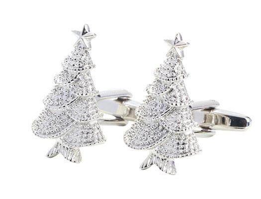 Christmas Tree Cuff Link 4 Pairs