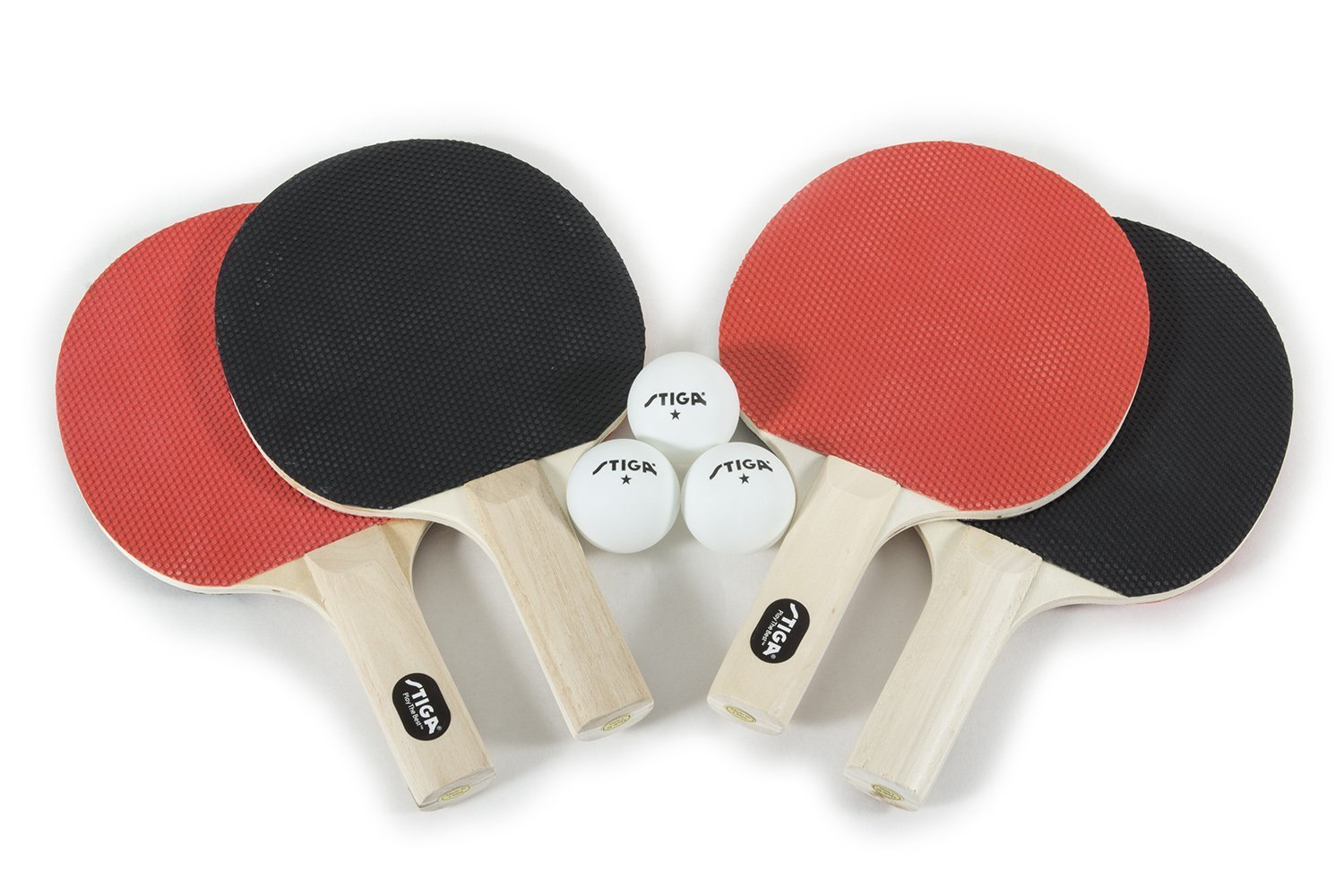 Senston Table Tennis Rackets Set,Professional Ping Pong Paddle Set for 4 Players Composite Rubber Ping Pong Paddle Indoor or Outdoor Games.