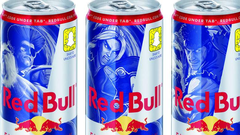 Red Bull Street Fighter Special Edition Cans