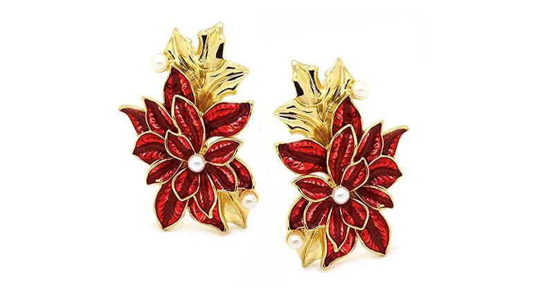 christmas earrings, christmas jewelry, earrings, dangle earrings, drop earrings, stud earrings