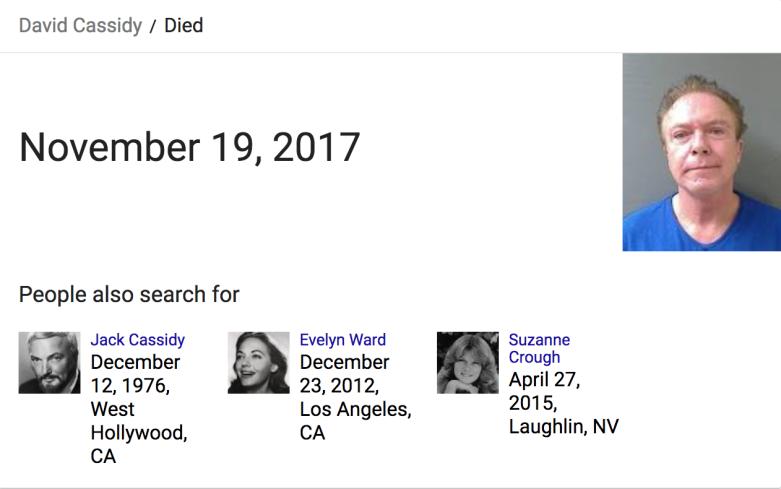 David Cassidy dead