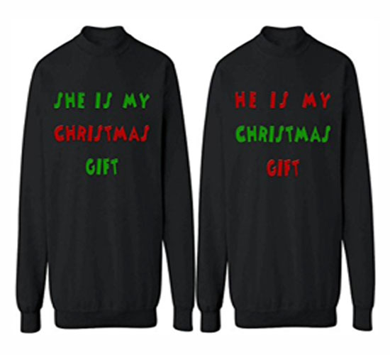 couples christmas sweaters, his and her christmas sweaters