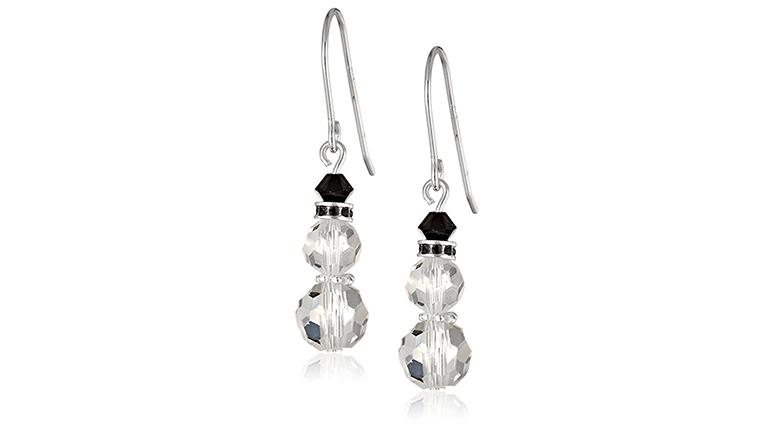 christmas earrings, christmas jewelry, earrings, dangle earrings, drop earrings, crystal earrings, swarovski jewelry