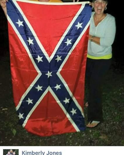 kimberly jones confederate flag, kimberly jones facebook