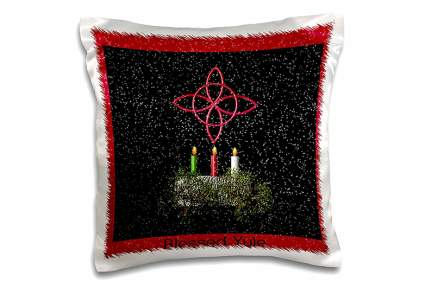 Black and red Yule pillow