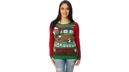 weiner dog christmas sweater