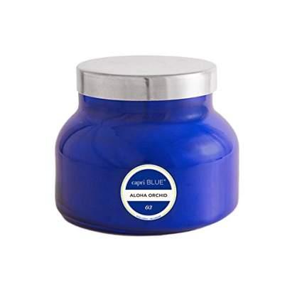 spen Bay Capri Blue Jar Candle 19 Ounce - Aloha Orchid