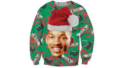 will smith christmas sweater