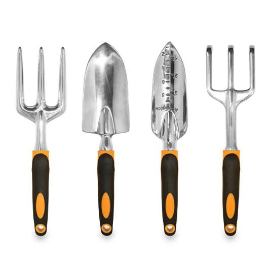 GardenHOME Ergonomic Garden Tools 4 Piece Tool Set