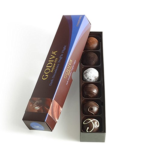 Godiva Chocolatier Truffle Flight, Dark Decadence