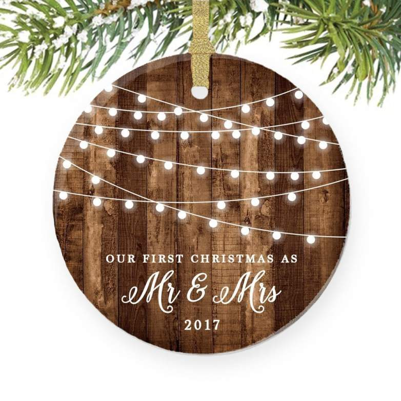 first christmas as mr and mrs, first married christmas ornament, christmas gifts for couples, gifts for couples, gifts for married couples, christmas presents for couples