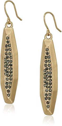 """Kenneth Cole New York """"Pyrite"""" Pave Geometric Stick Drop Earrings"""