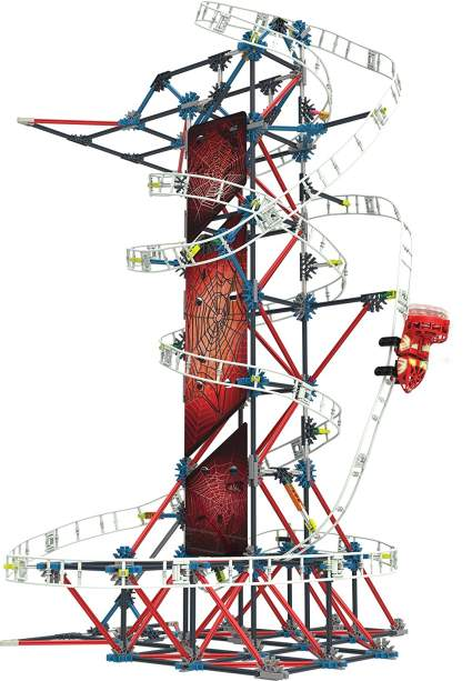 K'NEX Thrill Rides – Web Weaver Roller Coaster Building Set (439 Piece)