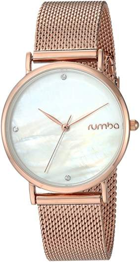 RumbaTime Women's 'Lafayette' Rose Gold Watch