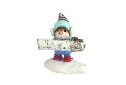 Little happy Yule mouse figurine