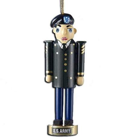 army nutcracker ornament