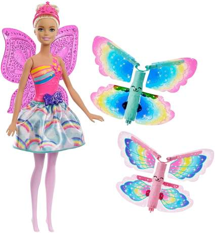 Barbie Dreamtopia Rainbow Cove Flying Wings Fairy Doll