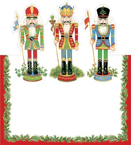 christmas place cards, nutcracker place cards