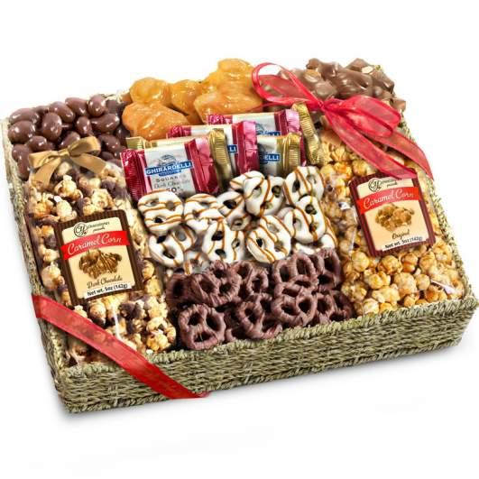 Chocolate, Caramel & Crunch Grand Gift Basket