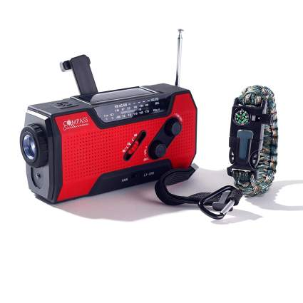 compass culture brand, emergency radio, crank radio