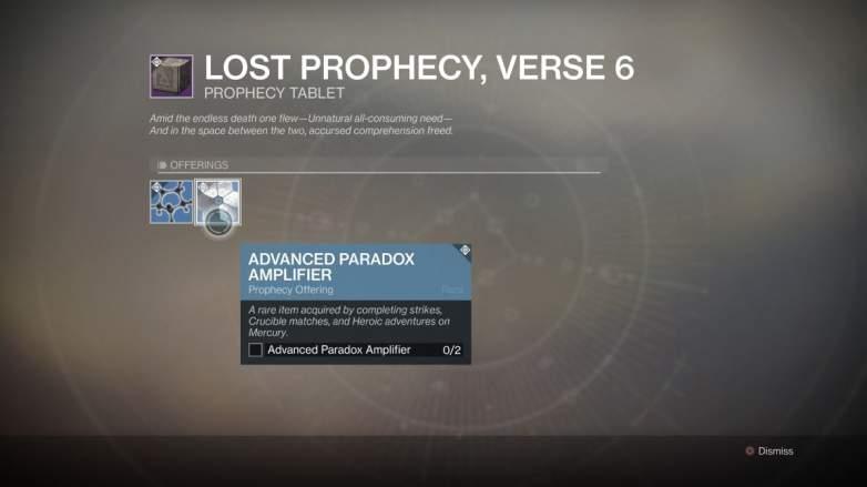 Destiny 2 Advanced Paradox Amplifier