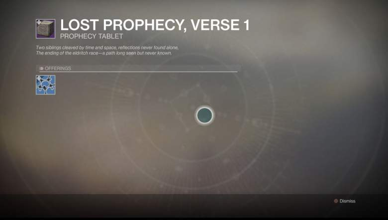 Destiny 2 Lost Prophecy