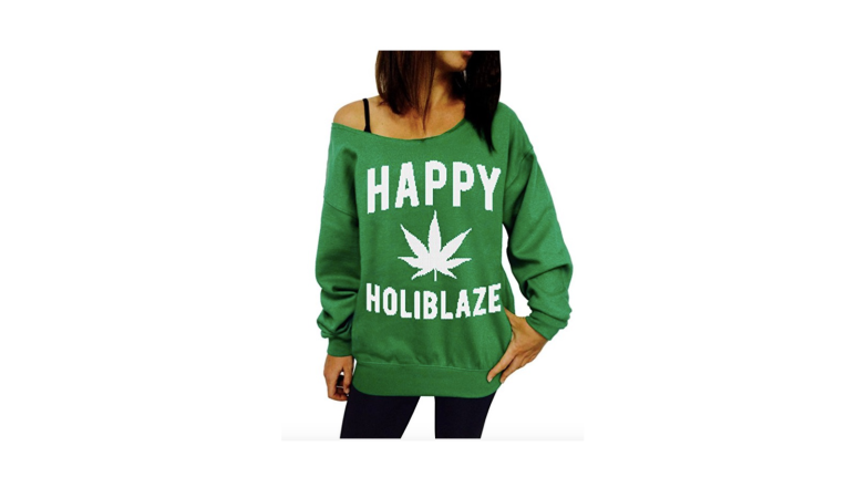 weed christmas sweater