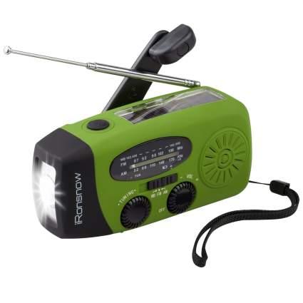 ironsnow, emergency radio, crank radio, solar radio
