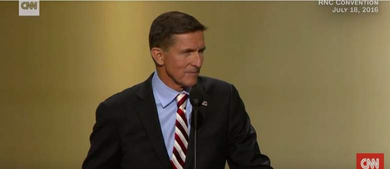 Michael Flynn, lock her up, lock him up, Donald Trump, HIllary Clinton