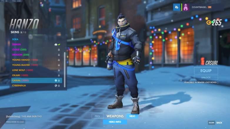 Overwatch Hanzo Casual