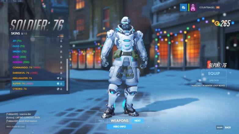Overwatch Soldier 76 Alpine