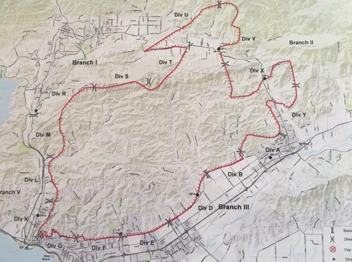 Thomas fire map