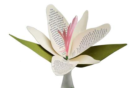 christian christmas gifts, religious christmas gifts, paper flower