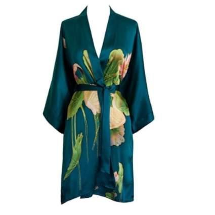 short silk kimono