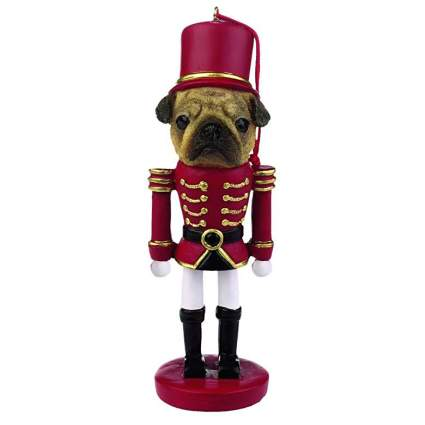 PUG NUTCRACKER ORNAMENT