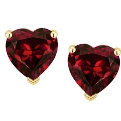 Star K 14k Yellow Gold Heart Shape 6mm Earrings Studs