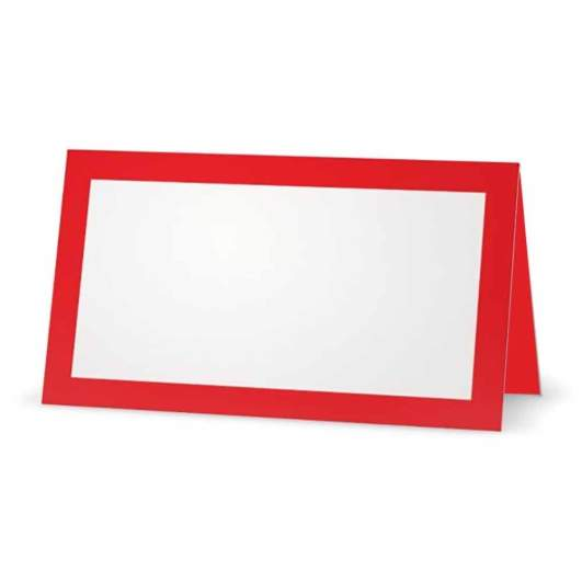christmas place cards, red place cards