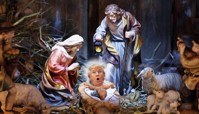 #XmasGiftsFromTrump, Donald Trump, twitter, Trump nativity scene