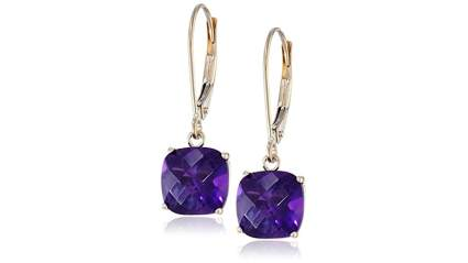 amethyst earrings, cool gifts for mom, unique gifts