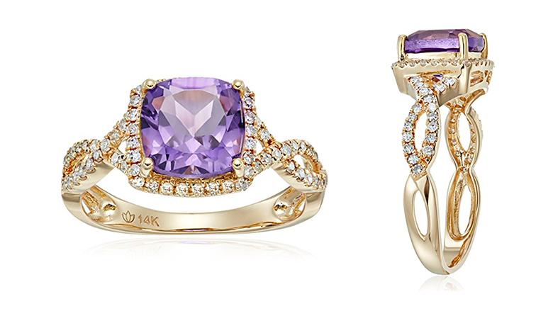 february birthstone, birthstone jewelry, amethyst rings, birthstone rings, amethyst engagement ring, purple engagement rings