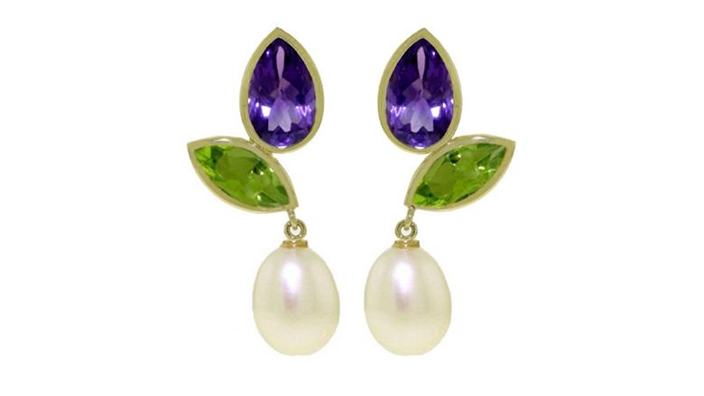 february birthstone, birthstone jewelry, birthstone earrings, amethyst jewelry, amethyst earrings, drop earrings, dangle earrings, stud earrings