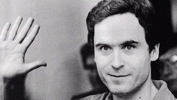 Ted Bundy waving, courtroom