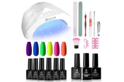 Neon gel nail kit