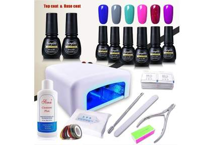 gel nail polish kit, gel nail kit, gel manicure kit, gel polish kit